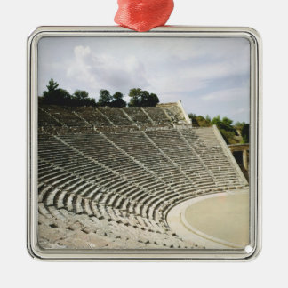 View of the theatre, c.360 BC Christmas Ornament