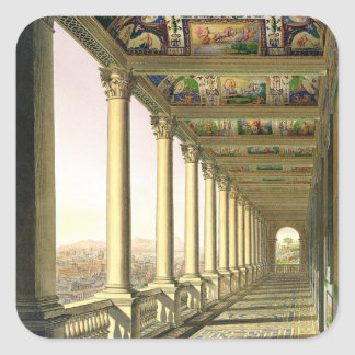 View of the third floor Loggia at the Vatican, wit Square Sticker