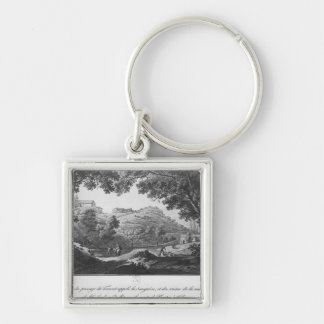 View of the torrent known as La Sanguese Silver-Colored Square Key Ring