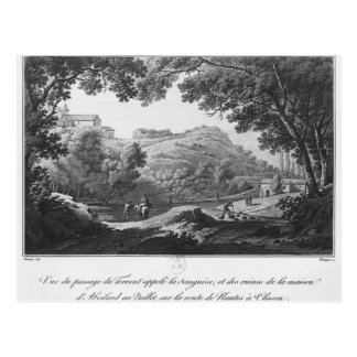 View of the torrent known as La Sanguese Postcard