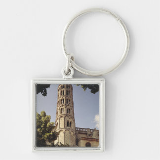 View of the Tour Fenestrelle Silver-Colored Square Key Ring