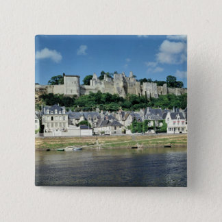 View of the town and castle 15 cm square badge