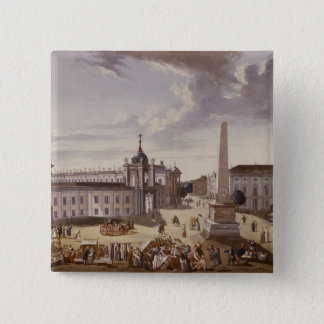 View of the Town Hall, 1772 15 Cm Square Badge