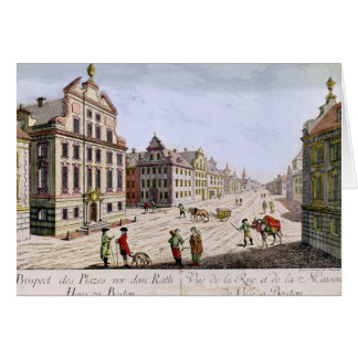 View of the Town Hall, Boston Card