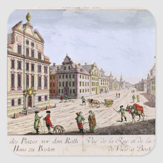 View of the Town Hall, Boston Square Sticker