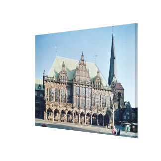 View of the Town Hall, built 1405-09 Canvas Print