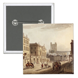 View of the Town Hall, Market and Abbey Church, fr 15 Cm Square Badge