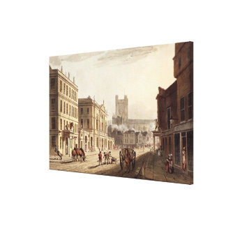 View of the Town Hall, Market and Abbey Church, fr Canvas Print