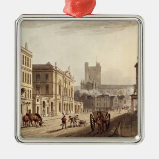 View of the Town Hall, Market and Abbey Church, fr Christmas Ornament