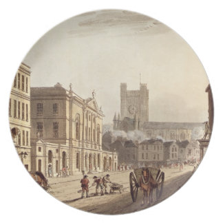View of the Town Hall, Market and Abbey Church, fr Plate