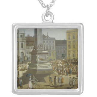 View of the Town Hall, Potsdam Silver Plated Necklace