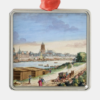 View of the Town of Frankfurt, facing south (print Christmas Ornament