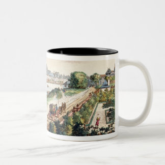 View of the Town of Frankfurt, facing south (print Two-Tone Coffee Mug