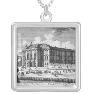 View of the Trautson Palace built for Count Silver Plated Necklace