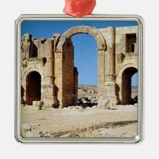 View of the Triumphal Arch, built c.129 AD Christmas Ornament