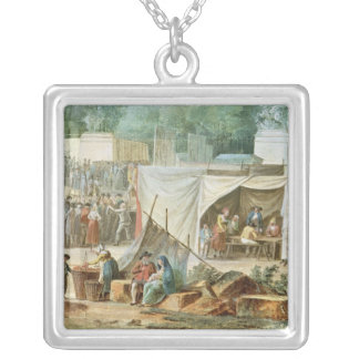 View of the Tuileries Silver Plated Necklace