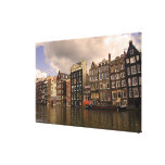 View of the unique architecture and gabled canvas print