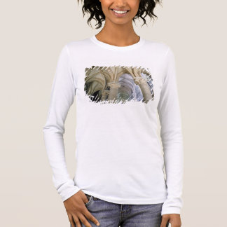 View of the vaulting in the ambulatory, c.1140-44 long sleeve T-Shirt