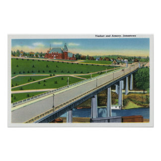 View of the Viaduct and Exterior of the Armory Poster