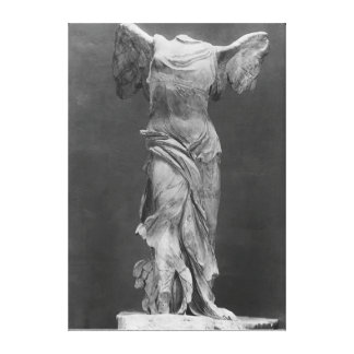 View of the Victory Samothrace in Louvre museum Canvas Print