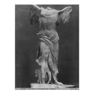 View of the Victory Samothrace in Louvre museum Poster