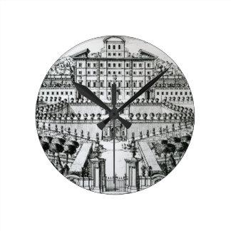 View of the Villa Aldobrandini from the garden (en Round Clock
