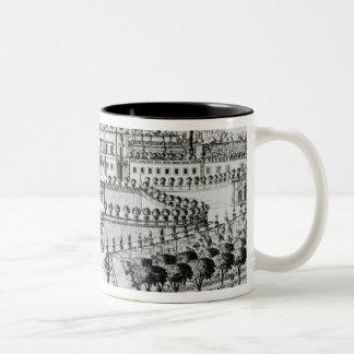 View of the Villa Aldobrandini from the garden (en Two-Tone Coffee Mug