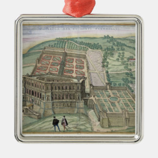 View of the Villa Farnese and the Gardens, from 'C Christmas Ornament
