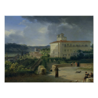 View of the Villa Medici, Rome, 1813 Poster