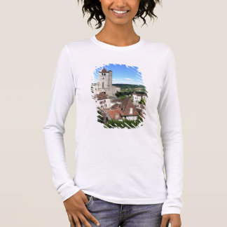 View of the village and the church (photo) long sleeve T-Shirt