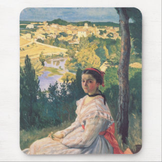 View of the Village Frederick Bazille Mousepad