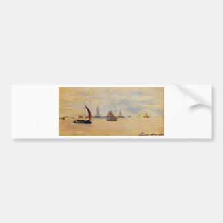 View of the Voorzaan by Claude Monet Bumper Sticker