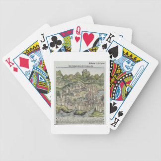 View of the walled city of Constantinople, from th Bicycle Playing Cards