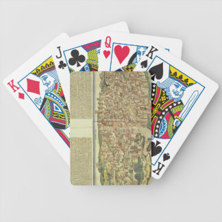 View of the walled city of Florence, from the Nure Bicycle Playing Cards
