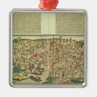 View of the walled city of Florence, from the Nure Christmas Ornament