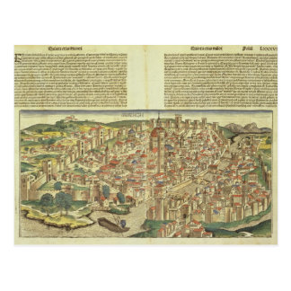 View of the walled city of Florence, from the Nure Postcard
