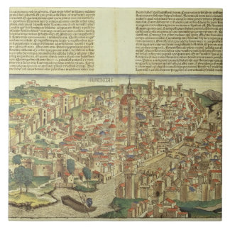 View of the walled city of Florence, from the Nure Tile