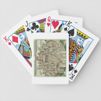 View of the walled city of Jerusalem showing the T Bicycle Playing Cards