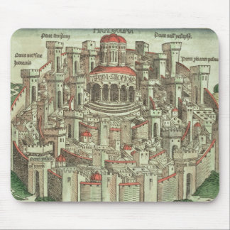 View of the walled city of Jerusalem showing the T Mouse Pad