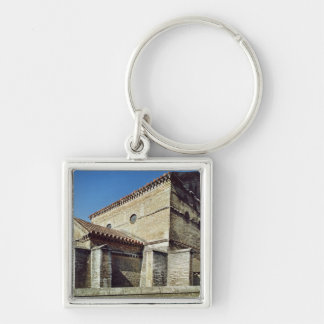View of the West apse and the apsidiole Silver-Colored Square Key Ring