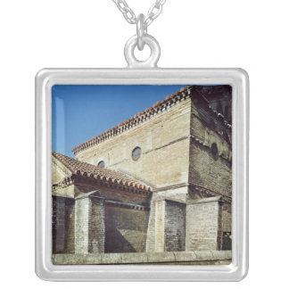 View of the West apse and the apsidiole Silver Plated Necklace