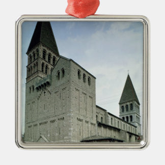 View of the west facade, 10th-11th century Silver-Colored square decoration