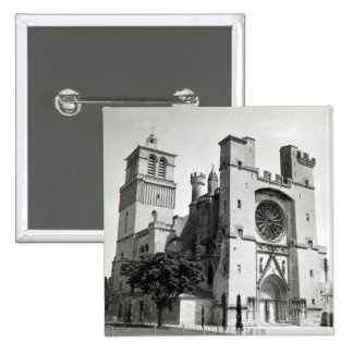 View of the west facade and tower 15 cm square badge