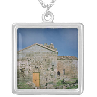 View of the west facade, built c.862-930 silver plated necklace
