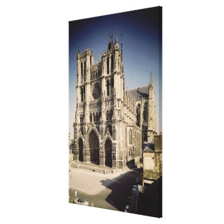 View of the West Facade, c.1220-70 Canvas Print
