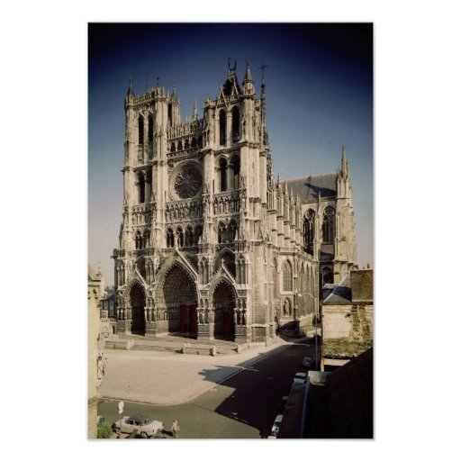 View of the West Facade, c.1220-70 Poster