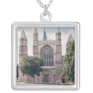 View of the west front of Rochester Cathedral Silver Plated Necklace