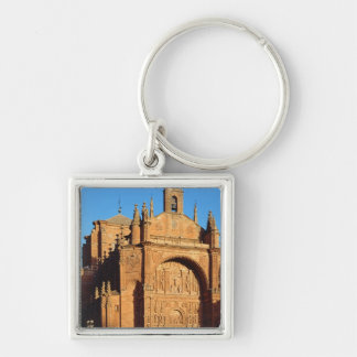 View of the West Front Silver-Colored Square Key Ring
