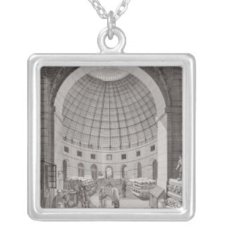 View of the Wheat Market and the Cupola Silver Plated Necklace