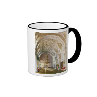 View of the White Hall in the Winter Palace Ringer Mug
